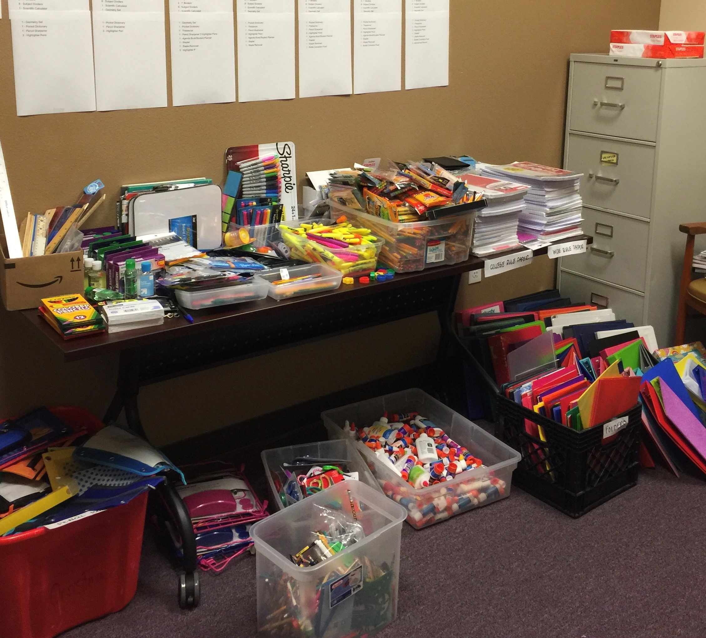 Many thanks to all for supporting our Back to School Drive!