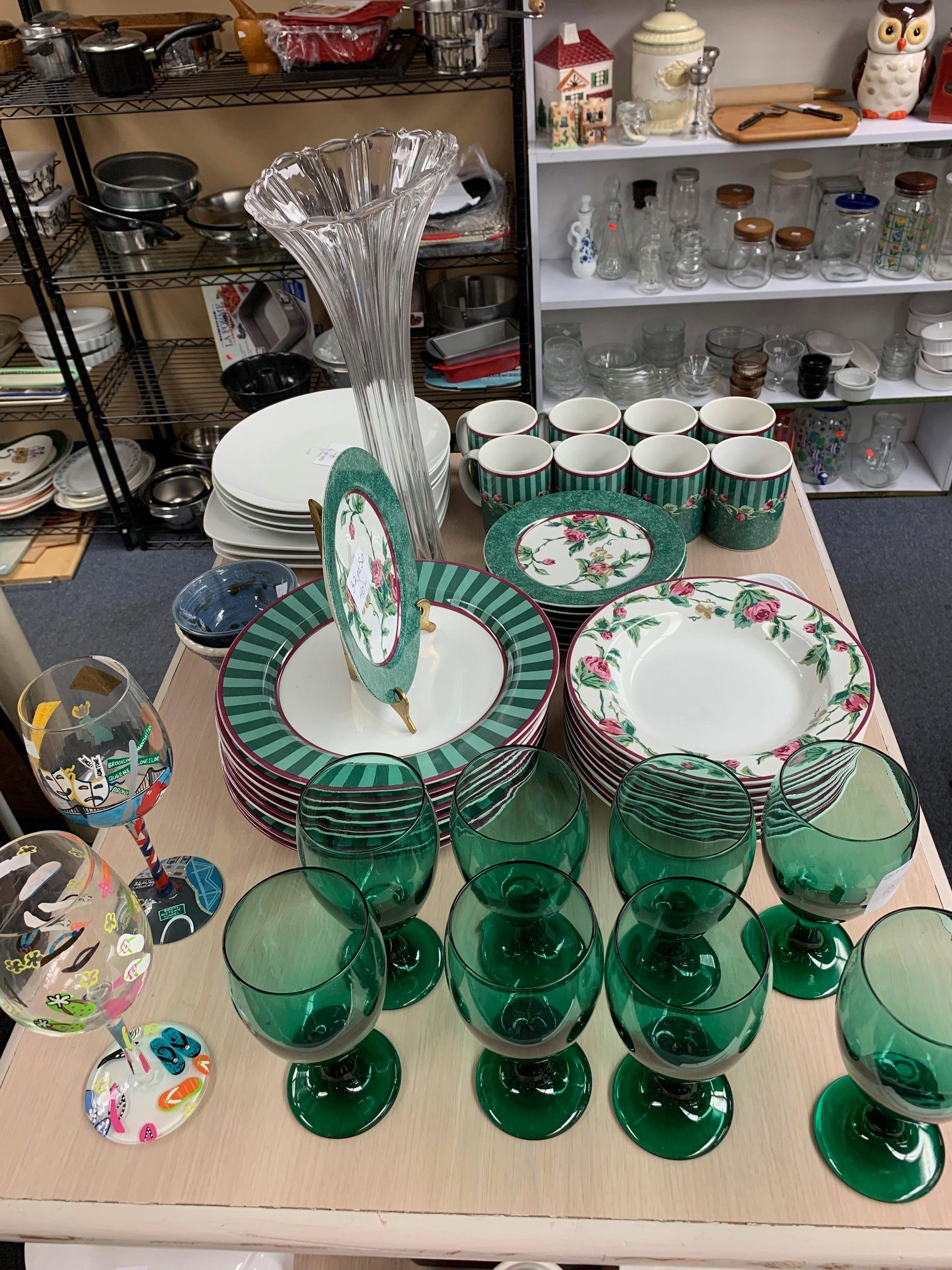 Hope chest green dishes